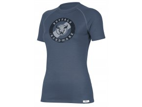 Lasting  BAFA 5656 modré  vlněné merino triko s tiskem