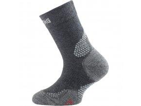 Lasting  TJC 800 šedá trekingová ponožka junior  ponožky