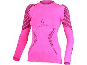 Lasting  RELA 4090 růžové termo bezešvé triko