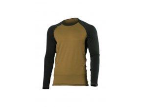 Lasting MARIO 6880 pískové pánské vlněné merino triko
