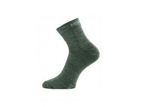 Lasting WHO 620 zelené ponožky z merino vlny  ponožky