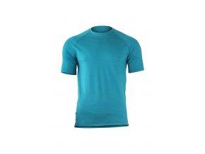 Lasting QUIDO 5858 modré pánské vlněné merino triko