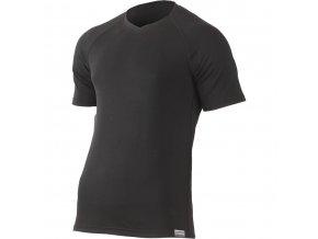 Lasting  RED 9090 černé pánské vlněné merino triko