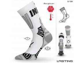 Lasting  ILF 009 bílá Středně dlouhá inlinová ponožka
