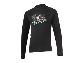 Lasting SKATER 9090 černé Vlněné Merino triko s tiskem