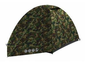 Husky Stan Outdoor Bizam 2 army zelená  stan + čelovka LED 80lm