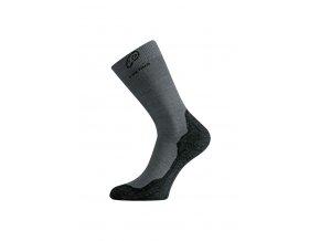Lasting  WHI 809 šedé vlněné ponožky