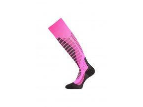 Lasting WRO 409 růžové lyžařské podkolenky  ponožky