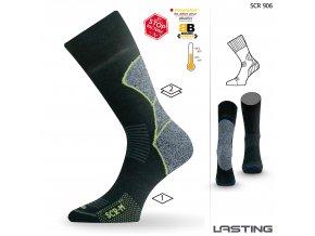 Lasting  SCR 906 černá trekingová  ponožka