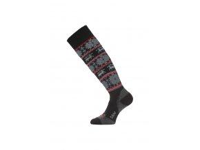Lasting  SSW 903 černá merino ponožky lyžařské