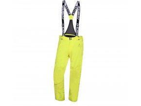 Husky Pánské lyžařské kalhoty  Mithy M zelenožlutá