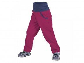 NEW unuo softshellové kalhoty bez zateplení Malinové (Softshell kids trousers) (Velikost UNI (Size) 98/104)