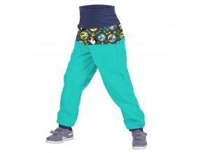 kalhoty smaragdove kocka pes