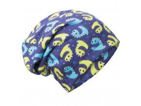 unuo fleecová čepice Bubáčci ( Unuo Fleece cap printed) (Velikost UNI (Size) L (53 - 58 cm))