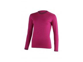 Lasting LADA 4545 růžové vlněné merino triko