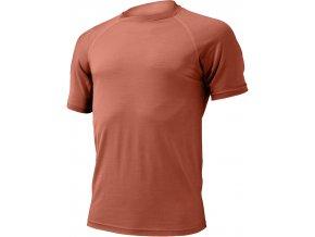 Lasting  QUIDO 7272 cihlová pánské vlněné merino triko