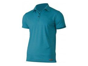 Lasting ELIOT 5858 modrá vlněná merino polo košile