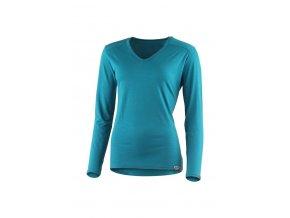 Lasting EVA 5858 modré merino triko s výstřihem