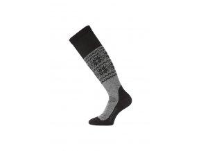 Lasting SWB 800 šedá vlněné lyžařské podkolenky  ponožky