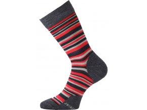 Lasting WPL 503 červené vlněné ponožky  ponožky