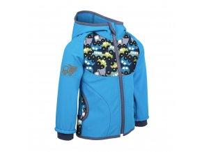 unuo Softshellová bunda bez zateplení Autíčka aqua (Unuo softshell jacket) (Velikost UNI (Size) 98/104)