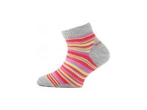 Lasting TJP 308 červená merino ponožka junior slabší  ponožky