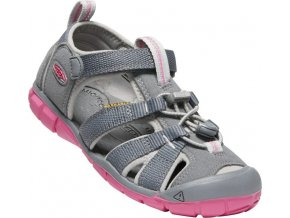 keen seacamp ii cnx jr steel grey rapture rose 01