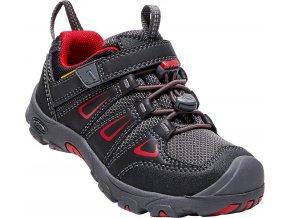 Keen oakridge low wp k boty Velikost: (Barva Černá / červená, Velikost US13)
