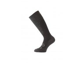 Lasting merino lyžařské podkolenky SKM černé  ponožky