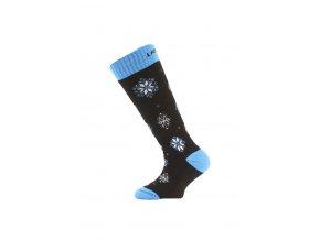 Lasting SJA dětské merino lyžařské ponožky černé  ponožky