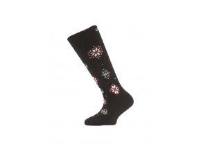 Lasting dětské merino lyžařské ponožky SJA černé  ponožky
