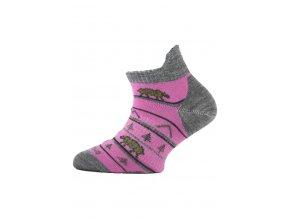 Lasting dětské merino ponožky TJM růžové  ponožky