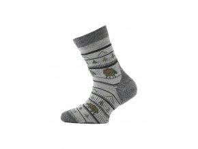 Lasting dětské merino ponožky TJL šedé  ponožky