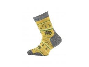 Lasting TJL dětské merino ponožky hořčicové  ponožky