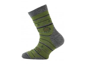 Lasting TJL dětské merino ponožky zelené  ponožky