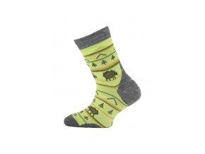 Lasting dětské merino ponožky TJL žlutá  ponožky