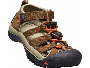 Keen Newport H2 K dark earth/spicy orange  dětská obuv