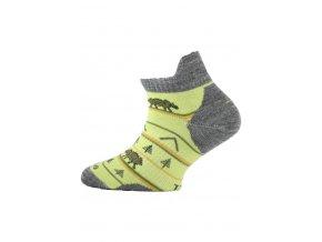 Lasting dětské merino ponožky TJM žluté  ponožky