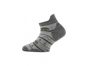 Lasting dětské merino ponožky TJM šedé  ponožky