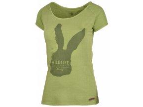 Husky Dámské triko   Rabbit L tm.zelená