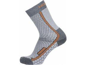 Husky Ponožky  Treking šedá/oranžová