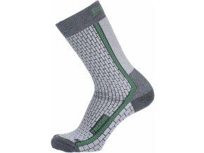 Husky Ponožky  Treking šedá/zelená