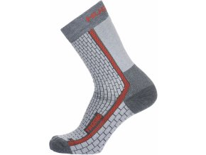 Husky Ponožky  Treking šedá/červená