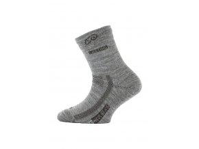 Lasting dětské merino ponožky TJS šedé  ponožky
