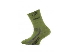 Lasting dětské merino ponožky TJS zelené  ponožky