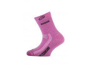 Lasting dětské merino ponožky TJS růžové  ponožky