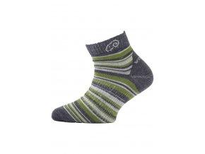 Lasting dětské merino ponožky TJP zelené  ponožky