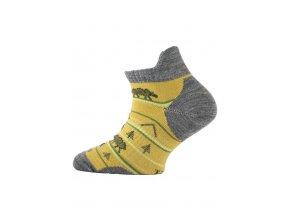 Lasting dětské merino ponožky TJM hořčicové  ponožky