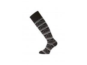Lasting merino lyžařské podkolenky SWA černé  ponožky