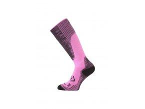 Lasting merino lyžařské podkolenky SKM růžové  ponožky